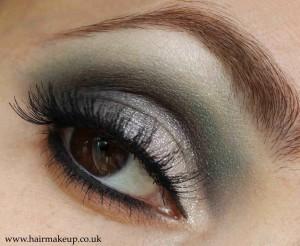 Teal eye makeup
