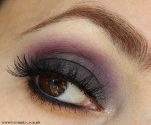 maroon smoky eyes