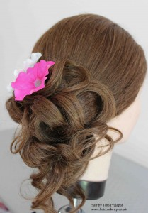tousled side bun