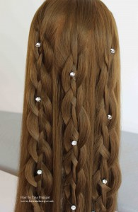 bridal hair down braid 1