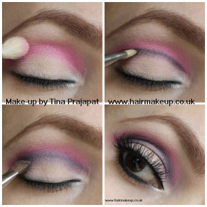 pink cut crease Collage