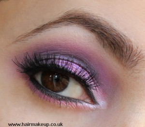 glittery pink and purple