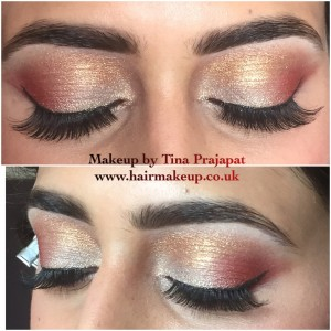 red and gold eyeshadow