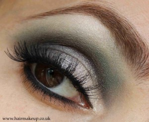 Teal eye makeup