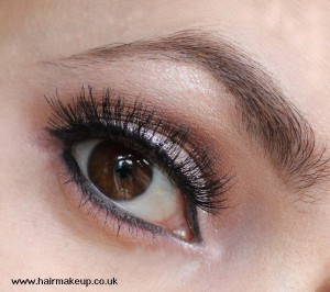 brown and silver eye makeup