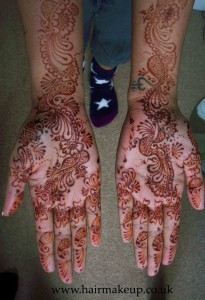 bridal mehandi - stain