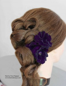 bridal hair side style