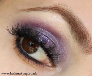 purple glossy eyes