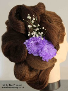 sculpted bridal hair