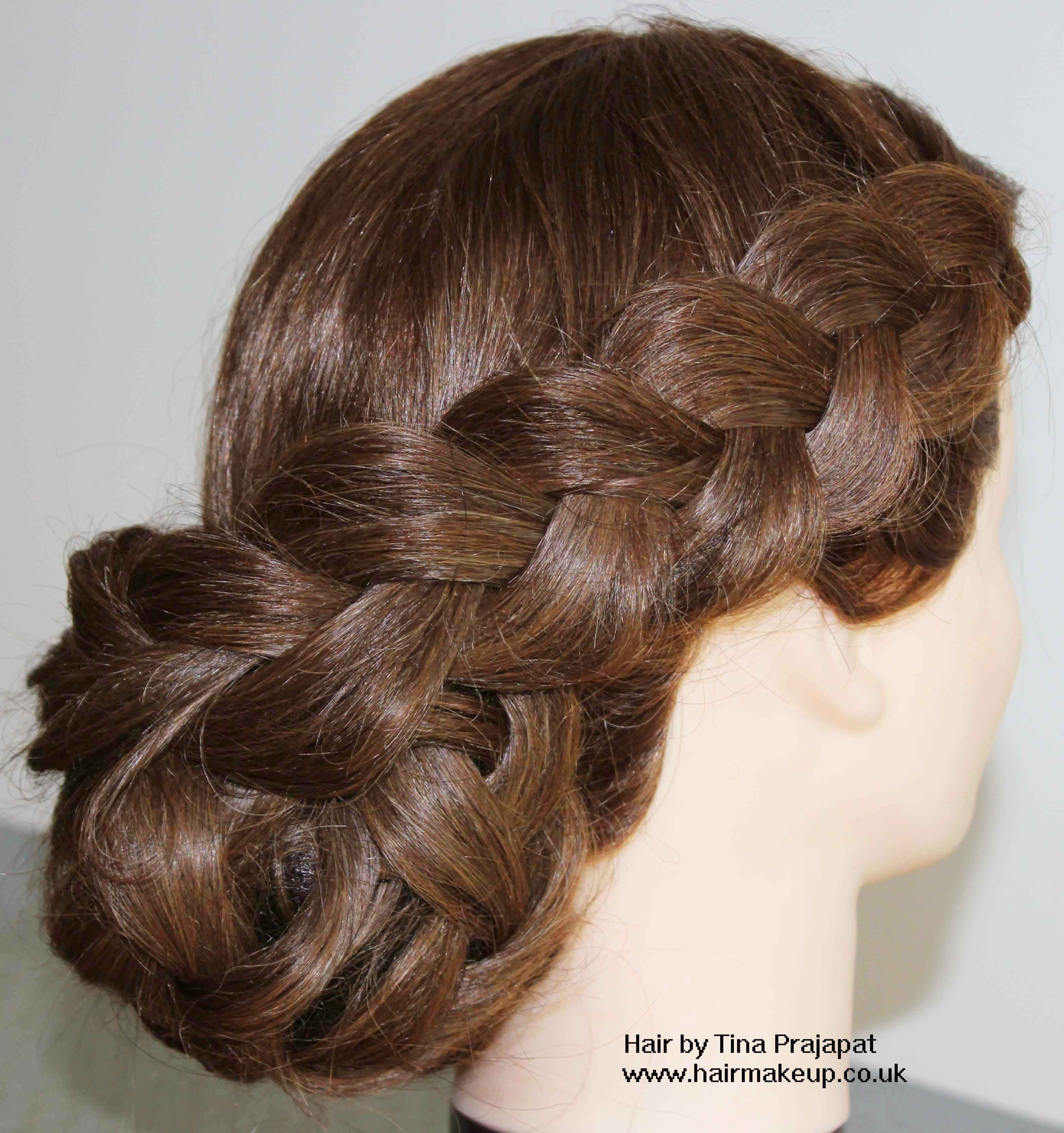 types of hair styles for raised braid hairstyles hair up ideas for brides and 2125