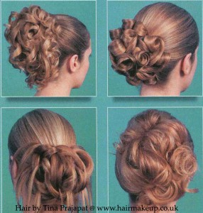 Long hair styling