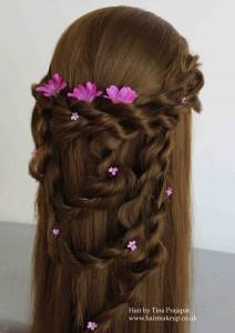 bridal hair down ruffles 1