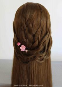 bridal hair weave
