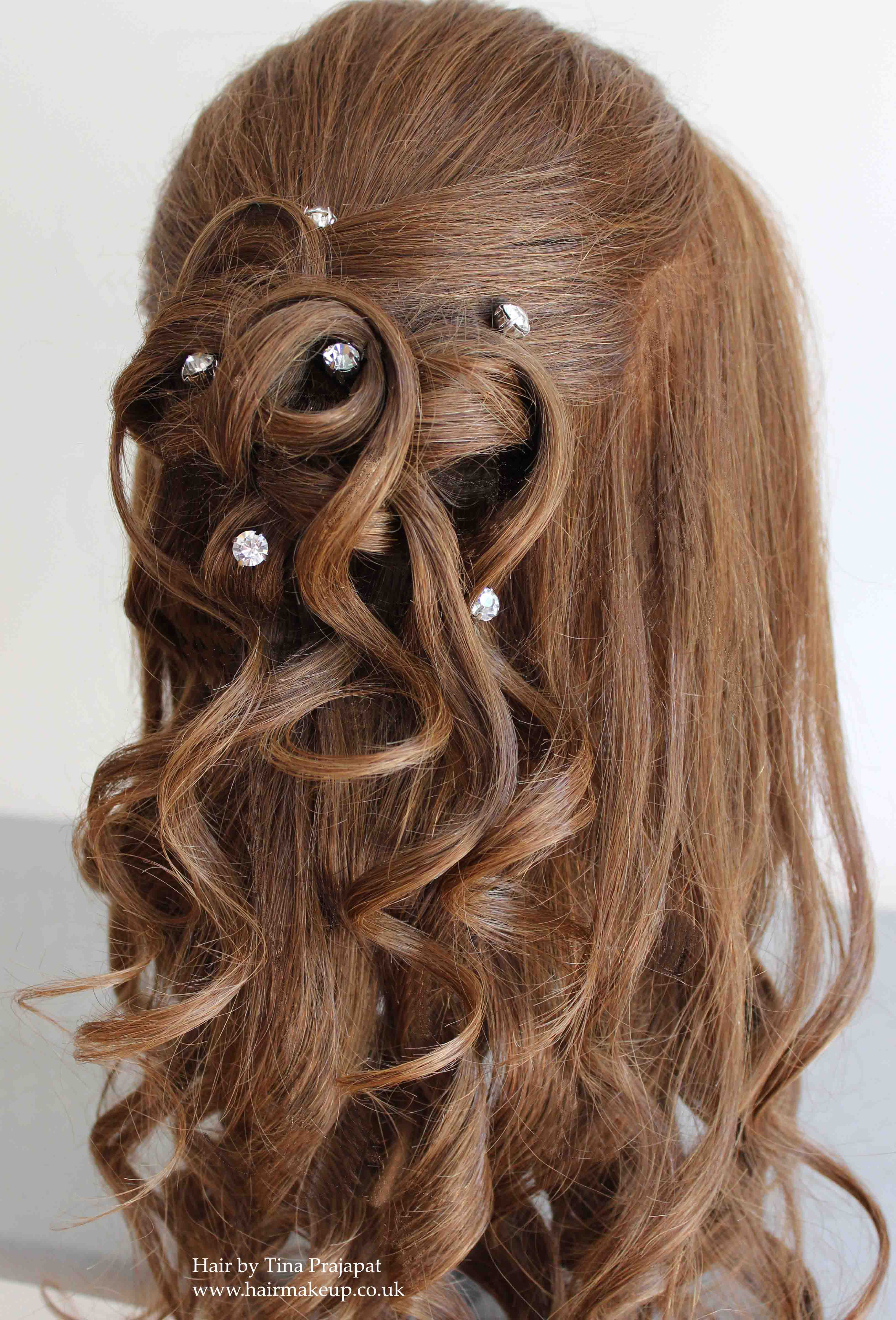 half up half down hair ideas for brides and special occasions |