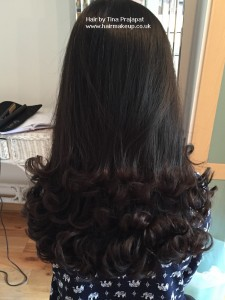 lower curled hair