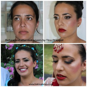 real brides makeover collage