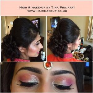 pink and orange eye makeup