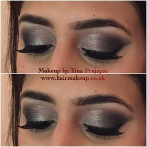 smokey silver eyeshadow